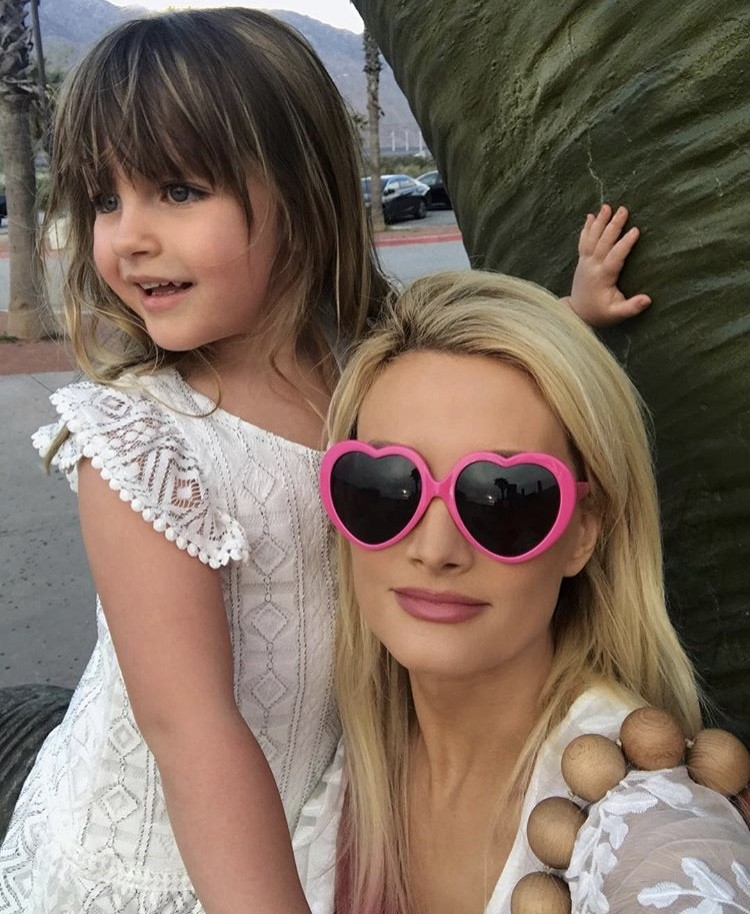 Holly Madison With Her Daughter