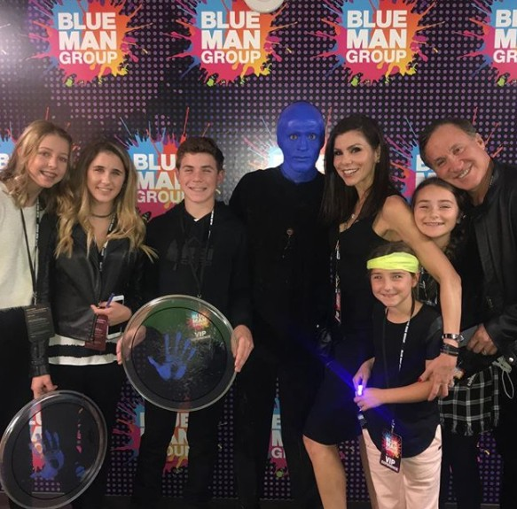 Dubrow Family At Blue Man Group