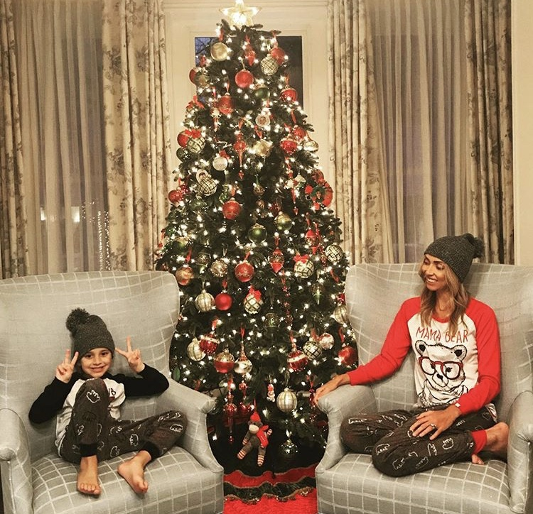 Giuliana Rancic & Her Son Duke Wearing Matching Pajamas