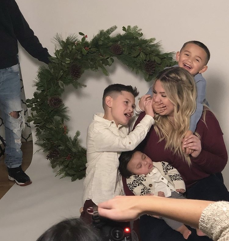 Kail Lowry With Her Family