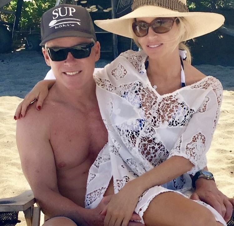 Camille Grammer With Fiancé David C. Meyer