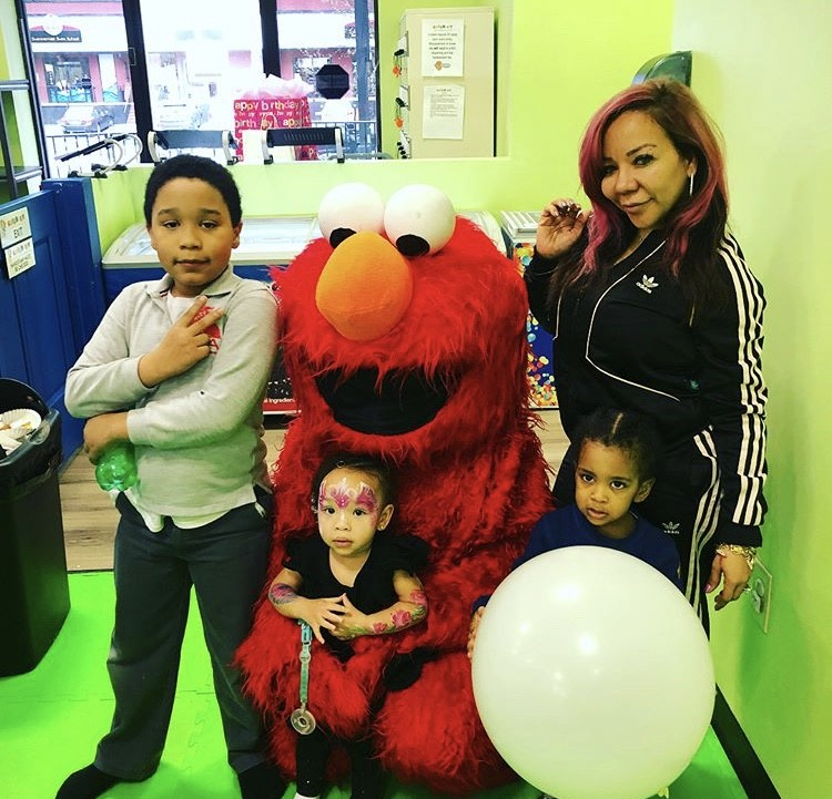 Tiny Harris With Her Kids