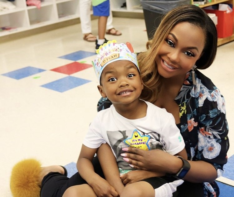 Phaedra Parks With Her Son