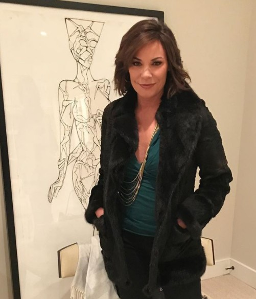 Luann de Lesseps With Her Daughter's Art
