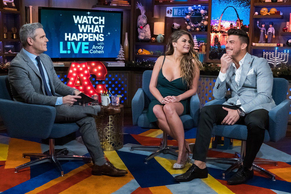 Andy Cohen, Brittany Cartwright, & Jax Taylor