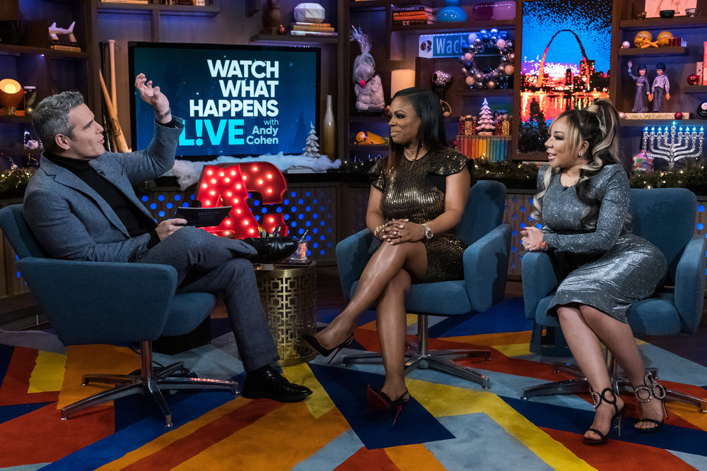 Andy Cohen, Kandi Burruss, & Tiny Harris