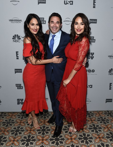 Brie & Nikki Bella with Dr. Paul Nassif
