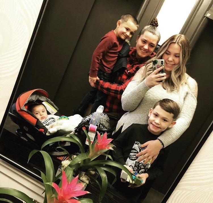 Kailyn Lowry With Her Family