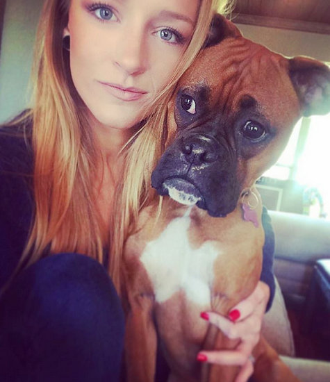 Photo of Maci Bookout & her Dog Bonie