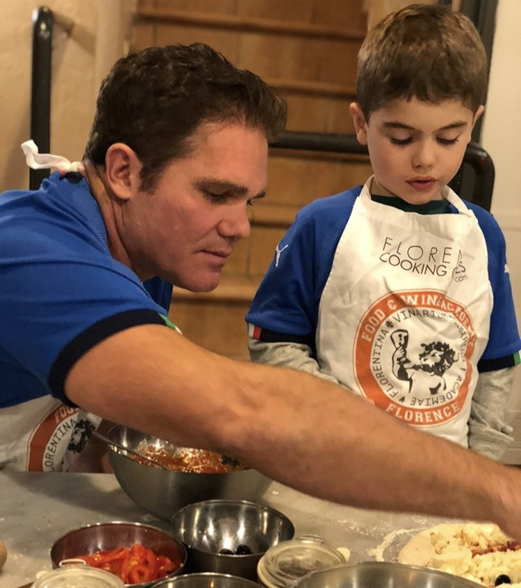 Travis & His Son At Cooking Class