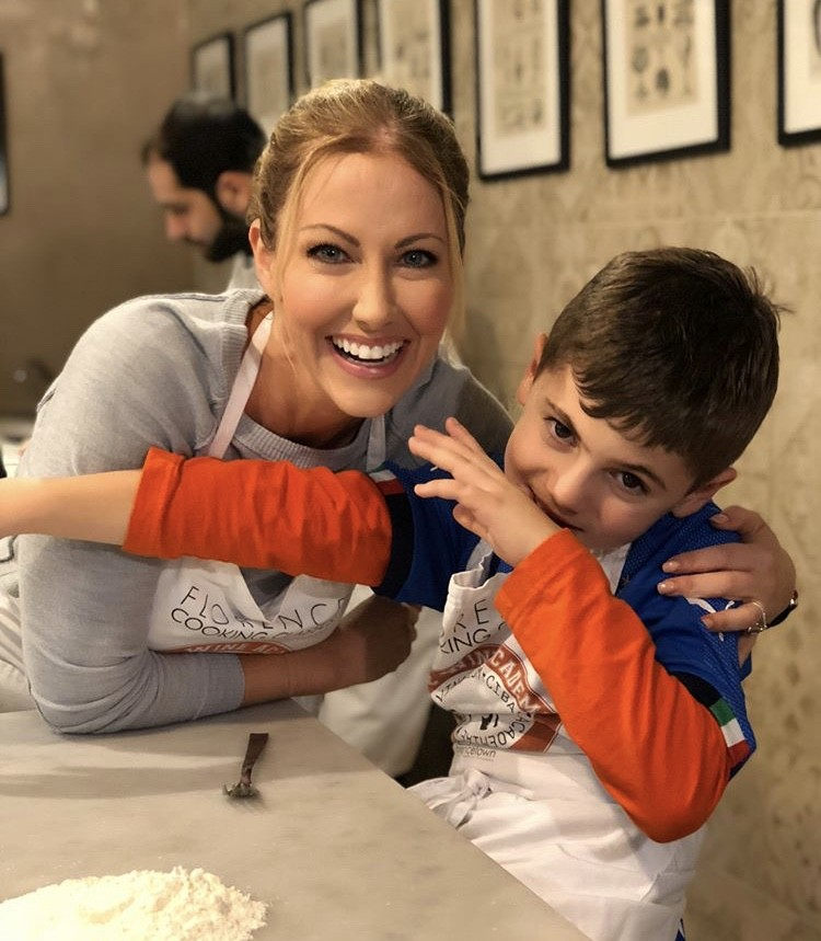 Stephanie & Her Son Cooking