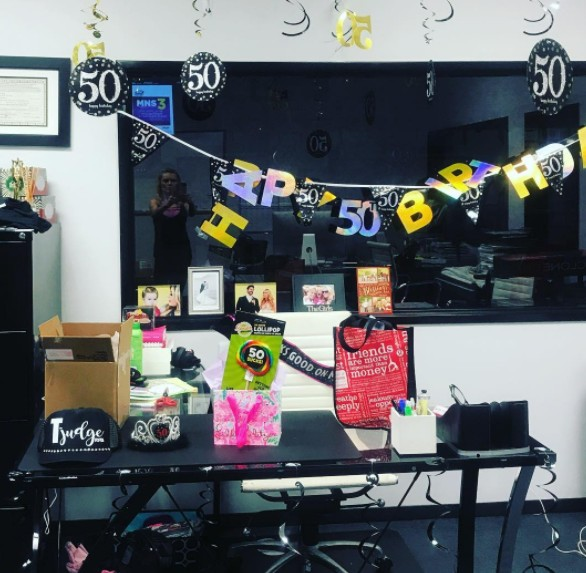 Tamra's Decorated Office